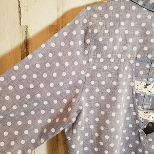 Band of Gypsies Tops - Band of Gypsies Gray Polka Dot